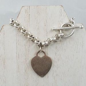 Jewelry - 925 Sterling Silver Heart Charm Bracelet